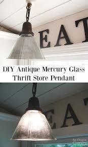 Antique Mercury Glass Chandelier Diy Antique Mercury Glass Pendant A Tutorial