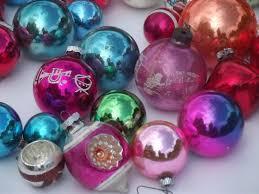 vintage glass tree ornaments lot shiny brite glass