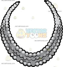 elegant pearl necklace images An elegant pearl necklace cartoon clipart vector toons jpg