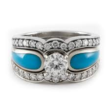 turquoise wedding rings moonlit lake radiance tier 4 turquoise engagement ring