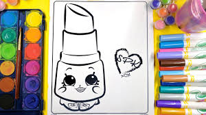 coloring shopkins lippy lips coloring pages and painting for kids