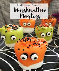 halloween treats marshmallow monsters working mom magic