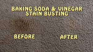 How To Clean Car Upholstery With Vinegar Baking Soda U0026 Vinegar Carpet Stain Busting Youtube