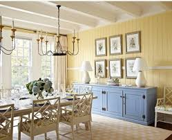 love the chair rail around the room in this paneled dining room