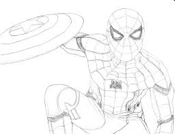 spider man captain america civil war homer311 deviantart