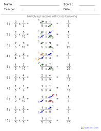 we let you generate an unlimited supply of multiplying fractions