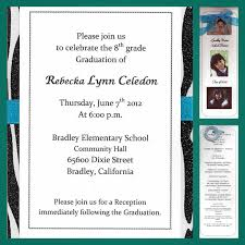 8th grade graduation invitations 27 images of 8th grade graduation template infovia net