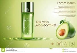 natural organic cosmetic oils with avocado top view stock photo