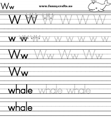 letter w handwriting worksheets for preschool to first grade