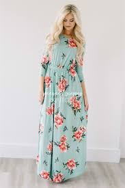 maxi dresses mint easter floral maxi modest dress best and affordable