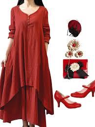 chic clothing vintage women sleeve v neck irregular maxi dresses online