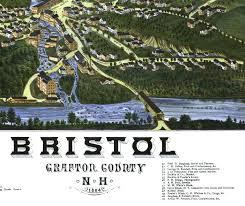 Birds Eye View Maps Antique Map Bristol Nh Bristol Nh In 1884 Bird U0027s Eye View