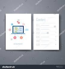 brochure design software template flyer brochure design set set stock vector 280779152