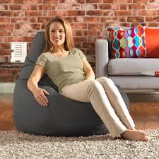 designer recliner gaming bean bag slate grey indoor u0026 outdoor