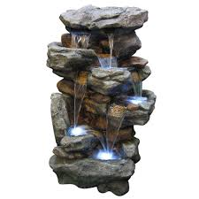 alpine 51 in rainforest waterfall fountain win730 the home depot