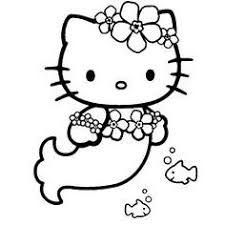 coloriage hello kitty dauphin 1001 animaux