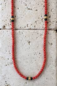 beaded jewelry design necklace images Necklace red coral beads bronze rondels roman paul jewelry jpg