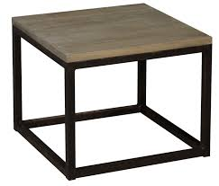 table basse bout de canapé table basse carré en métal et chêne