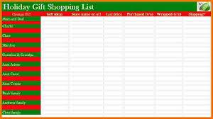 christmas gift list 5 christmas gift list template itinerary template sle
