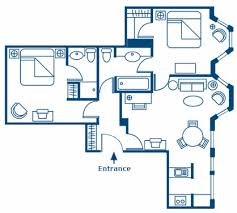 Floor Plan Two Bedroom Residence Of Ascott London Mayfair - Two bedroom apartment london