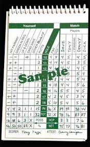 Golf Stat Tracker Spreadsheet Back Pocket Booklet To Record On Course Activities Golf Style