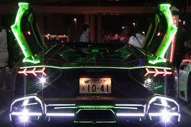 Lamborghini Aventador Neon - this hologram bosozoku lamborghini aventador is trippy