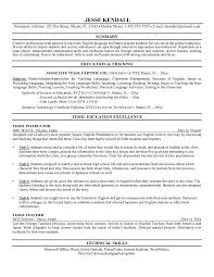 English Teacher Sample Resume by Esol Tutor Cover Letter