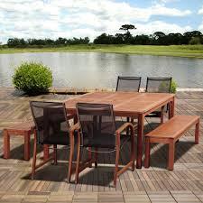 Martha Stewart 7 Piece Patio Dining Set - amazonia ellis 7 piece eucalyptus square patio dining set sc