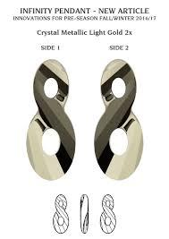 infinity number genuine swarovski 6792 infinity crystal pendants 18mm many