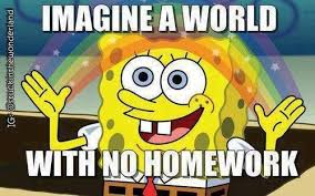Spongebob Homework Meme - welcome back lessons tes teach