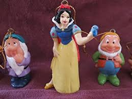 snow white and seven dwarfs mini ornaments set home