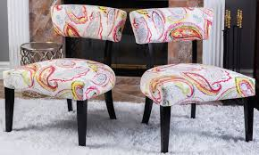 Accent Chair Set Of 2 Paisley Accent Chairs Set Of 2 Groupon Goods