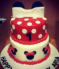 red minnie mouse birthday cake custom created cakes by brandi
