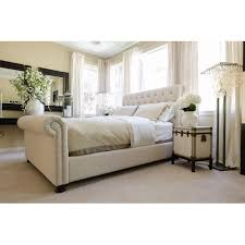 Tufted Sleigh Bed Best 25 White Sleigh Bed Ideas On Pinterest Sleigh Bed Painted