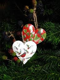 Gisela Graham Box Of 12 Mini Christmas Tree Decorations by Gisela Graham Christmas Tin Heart Set Of 2 Tree Decorations