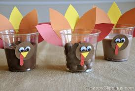 thanksgiving turkey snack cups craft preschool education for