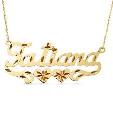 gold name plates tatiana 12k gold fill heart diamond cut name plate pendant