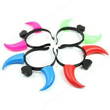halloween costumes led lights aliexpress com buy new halloween ox horn hair hoop neon glow in