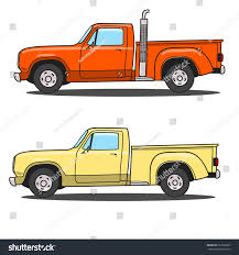 Vintage Ford Truck Colors - set color retro pickup truck vector stock vector 527829907
