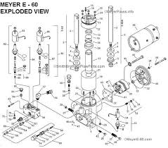 meyere 60 com meyer e 60 quik lift plow pump exploded view and