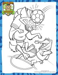 soccer coloring u2013 animal jam academy coloring pages animal
