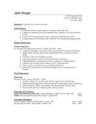 Resume Objective Food Service Cook Resume Skills Resume For Your Job Application