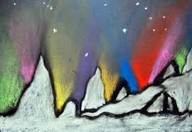 6th grade northern lights winter lesson a nice change from the