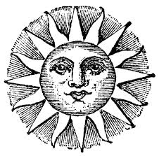 vintage clip art old fashioned sun with face the graphics fairy
