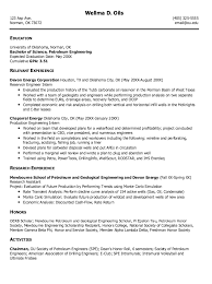 resume exle engineer exle of petroleum engineering resume http exleresumecv