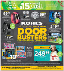 best tv sale deals black friday kohl u0027s black friday 2017 ad deals and sales