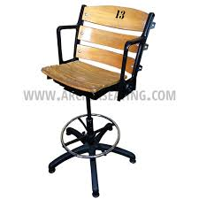 wooden rolling desk chair stadia barstool office chair builder archer seating
