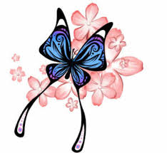 butterfly and flower vine design in 2017 photo