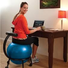 Balance Ball Chair With Arms Custom Fit Balance Ball Chair Gaiam