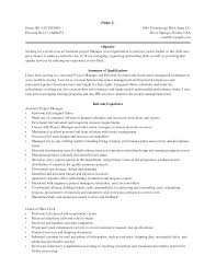 Resume Sample Program Manager by Assistant Project Manager Resume Sample Free Resume Example And